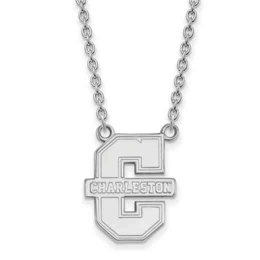 SS010CHC-18: SS LogoArt College of Charleston LG Pendant w/Necklace