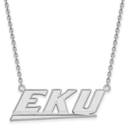 SS010EKU-18: SS LogoArt Eastern Kentucky U LG Pendant w/Necklace