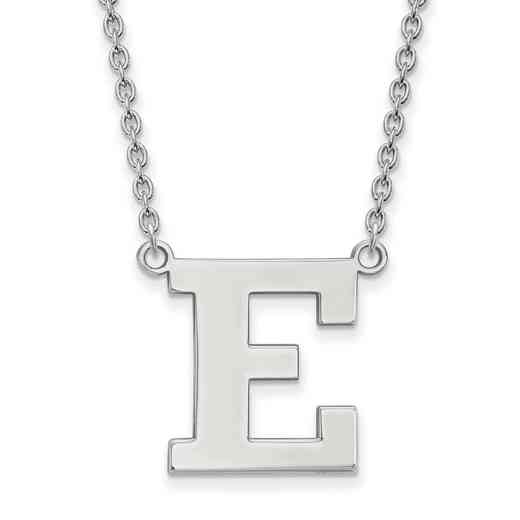 SS008EMU-18: SS LogoArt Eastern Michigan Univ Lg Pendant w/Necklace