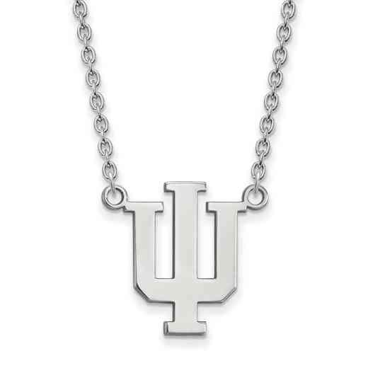 SS016IU-18: SS LogoArt Indiana Univ LG Pendant w/Necklace
