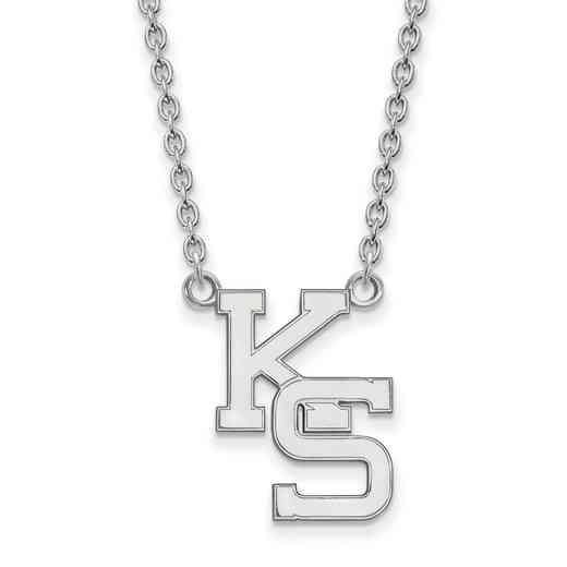 SS057KSU-18: SS LogoArt Kansas St Univ LG Pendant w/Necklace
