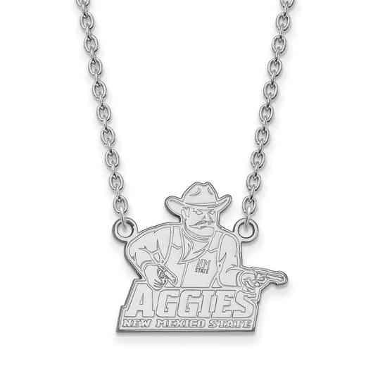 SS007NMS-18: SS LogoArt New Mexico St U LG Pendant w/Necklace