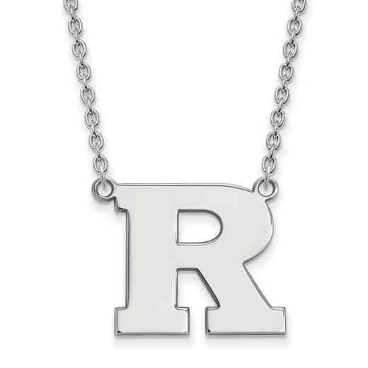 SS009RUT-18: SS LogoArt Rutgers LG Pendant w/Necklace