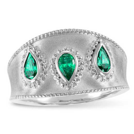 Prelude Enhance Three Stone Ring with Swarovski Zirconia