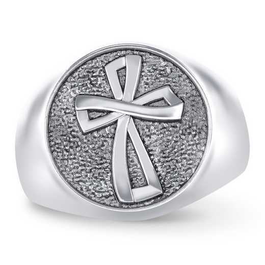 Men's FaithCrest Round Personalized Ring