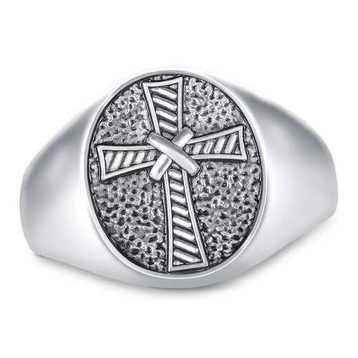 Men's FaithCrest Oval Personalized Ring