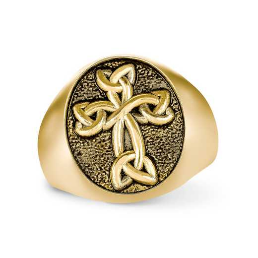 Ladies' FaithCrest Oval Personalized Ring