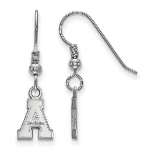 SS005APS: SS LogoArt Appalachian State Univ XS Dangle Earrings