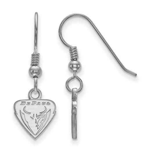 SS009DPU: SS LogoArt DePaul Univ XS Dangle Earrings