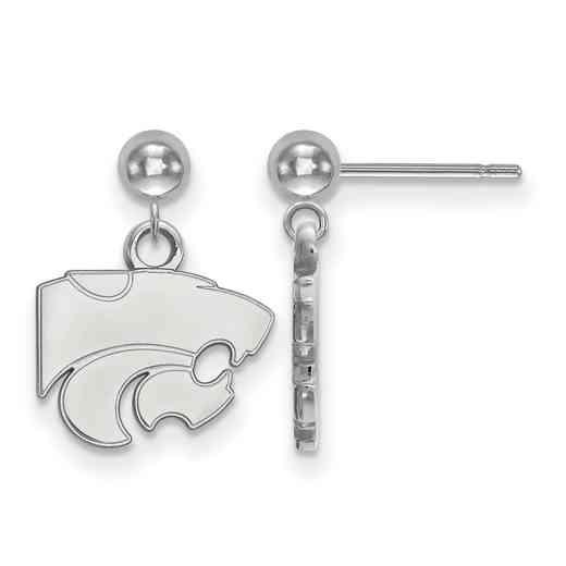 SS010KSU: SS LogoArt Kansas State Univ Earrings Dangle Ball