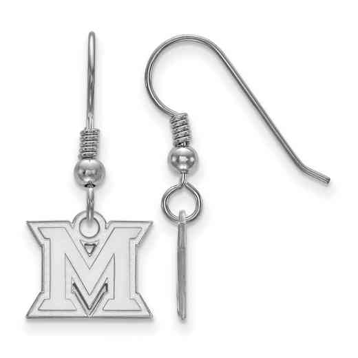 SS005MU: SS LogoArt Miami Univ XS Dangle Earrings