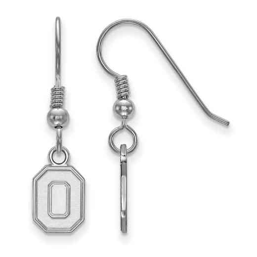 SS049OSU: SS LogoArt Ohio State Univ XS Dangle Earrings
