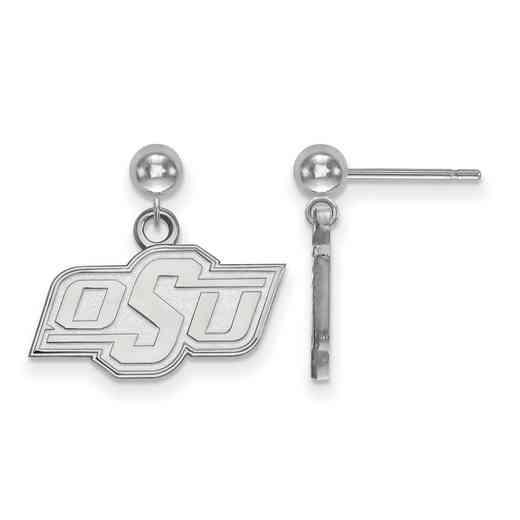 SS009OKS: SS LogoArt Oklahoma State Univ Earrings Dangle Ball