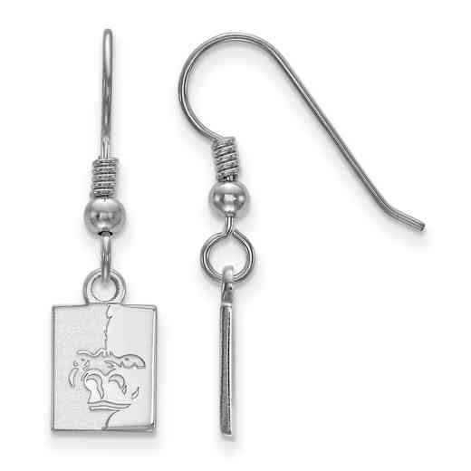 SS005PSK: SS LogoArt Pittsburg State Univ XS Dangle Earrings