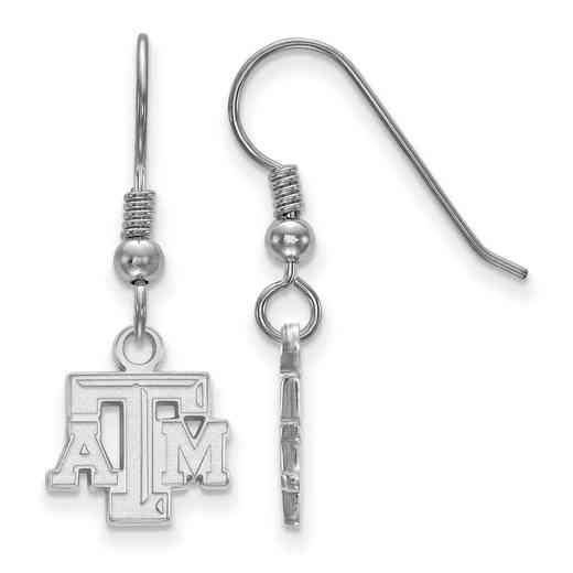SS006TAM: SS LogoArt Texas A&M Univ XS Dangle Earrings