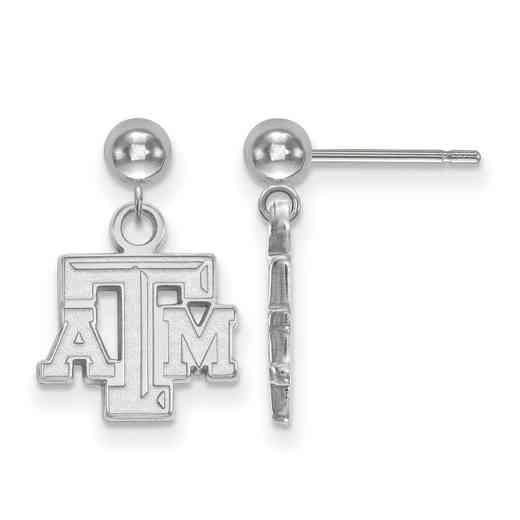 SS008TAM: SS LogoArt Texas A&M Univ Earrings Dangle Ball