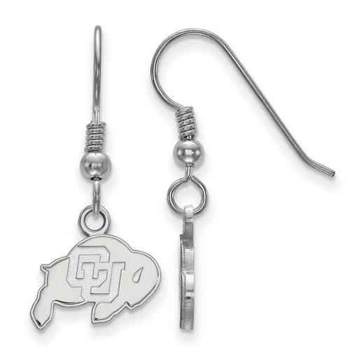 SS005UCO: SS LogoArt Univ of Colorado XS Dangle Earrings