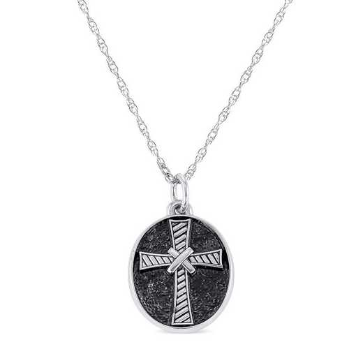 Men's FaithCrest Oval Personalized Pendant