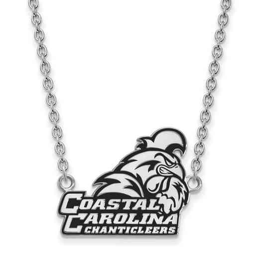 SS024CCU-18: SS LogoArt Coastal Carolina U Lg Enl Pendant w/Necklace