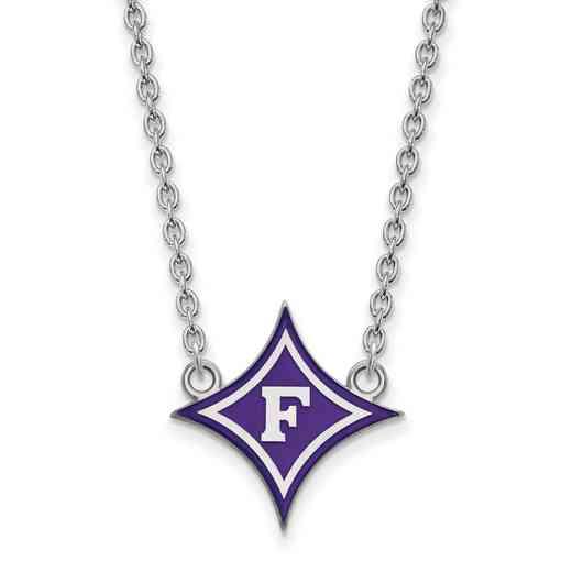 SS023FUU-18: SS LogoArt Furman Univ LG Enamel Pendant w/Necklace