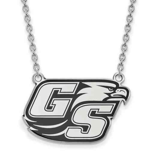 SS015GSU-18: SS LogoArt Georgia Southern U LG Enamel Pendant w/Necklace