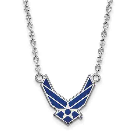 SS015USAF-18: SS LogoArt U.S. Air Force Academy LG Pendant w/ Necklace