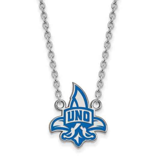 SS010UNO-18: SS LogoArt U of New Orleans LG Enamel Pendant w/Necklace
