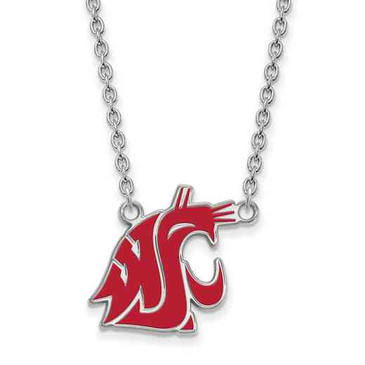 SS014WAS-18: SS LogoArt Washington St LG Enamel Pendant w/Necklace
