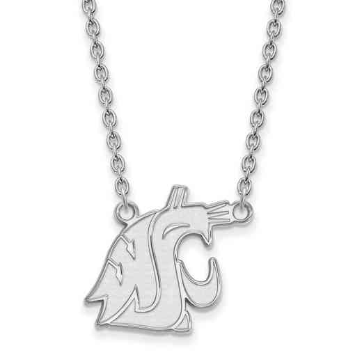 SS013WAS-18: SS LogoArt Washington St LG Pendant w/Necklace