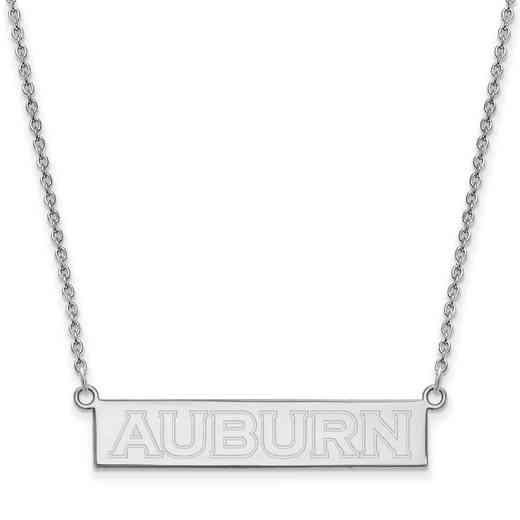 SS081AU-18: SS LogoArt Auburn Univ SML Bar Necklace