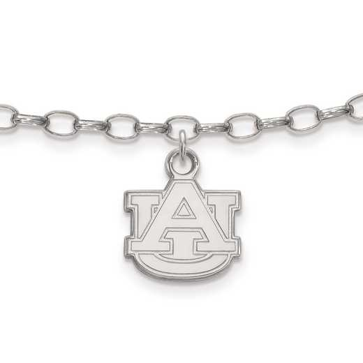 SS030AU: Sterling Silver LogoArt Auburn University Anklet