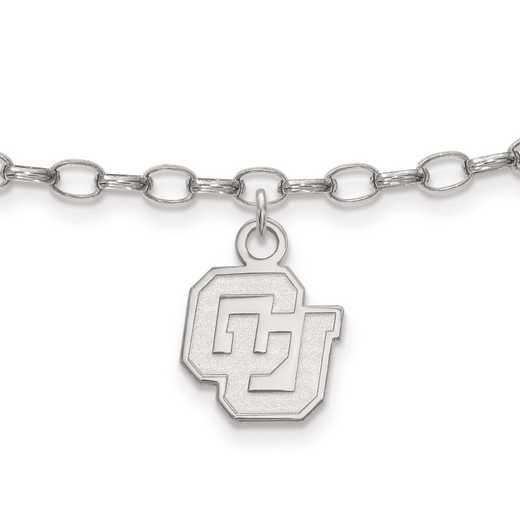 SS041UCO: Sterling Silver LogoArt University of Colorado Anklet