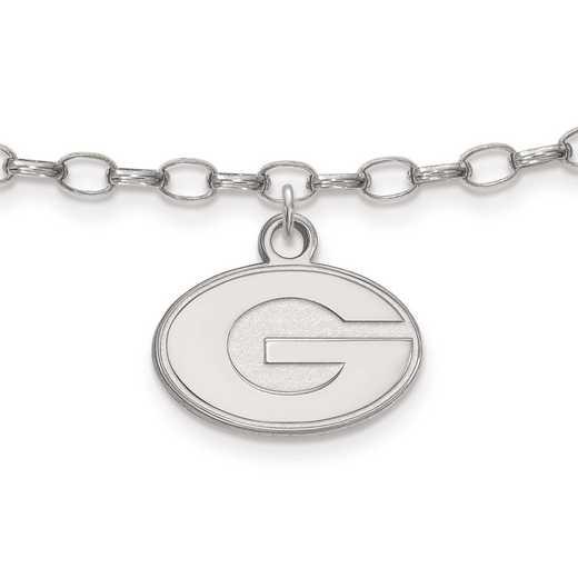 SS030UGA: Sterling Silver LogoArt University of Georgia Anklet