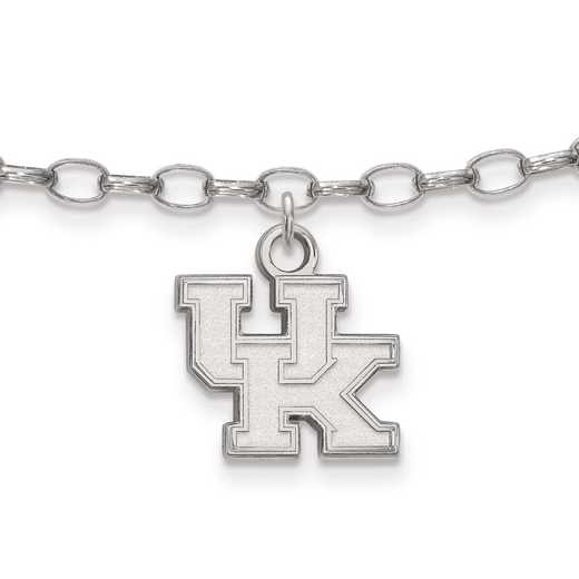 SS030UK: Sterling Silver LogoArt University of Kentucky Anklet
