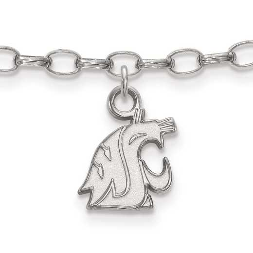 SS023WAS: Sterling Silver LogoArt Washington State Anklet