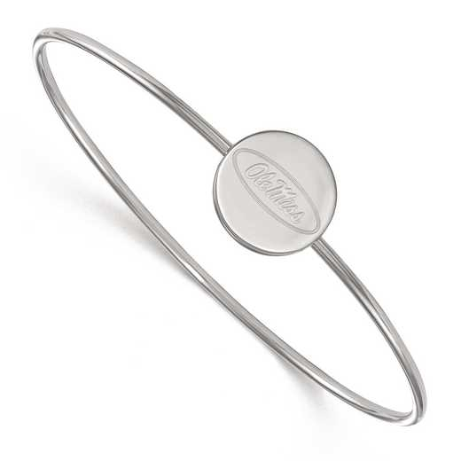 SS014UMS-7: SS LogoArt Univ of Mississippi Slip on Bangle