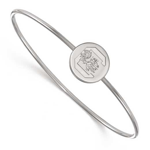 SS014USO-7: SS LogoArt Univ of South Carolina Slip on Bangle