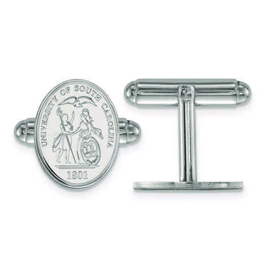 SS067USO: SS LogoArt University of South Carolina Crest Cuff Link