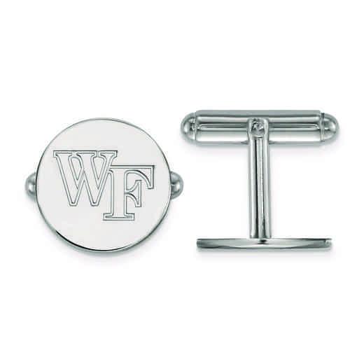 SS063WFU: SS LogoArt Wake Forest University Cuff Links