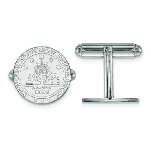 SS022WMU: SS LogoArt Western Michigan University Crest Cuff Link