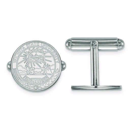 SS021WST: SS LogoArt Wichita State University Crest Cuff Link