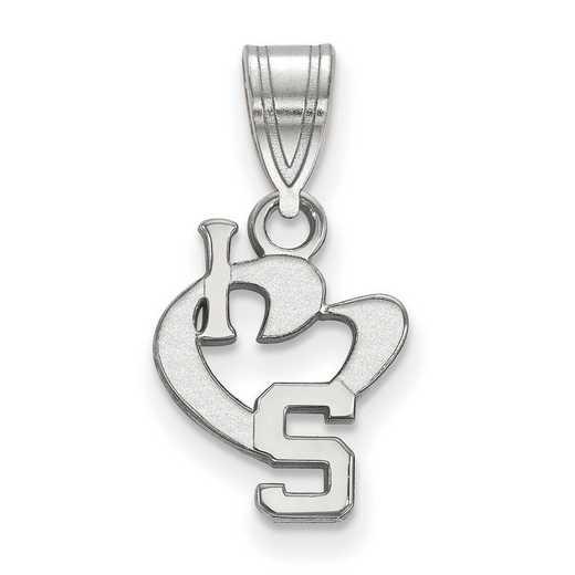 SS019MIS: SS LogoArt Michigan State Univ SML I Love Logo Pendant