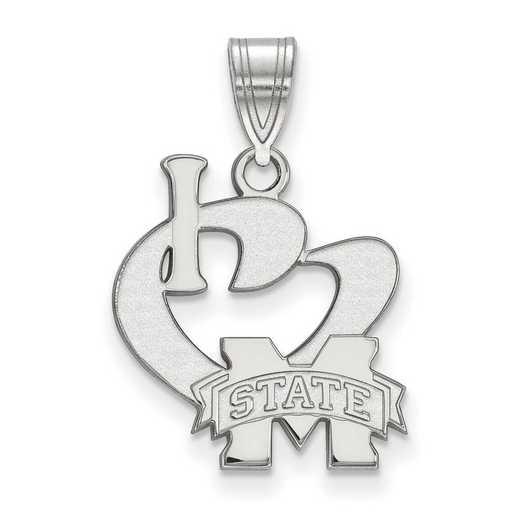SS020MSS: SS LogoArt Mississippi State Univ Large I Love Logo Pend