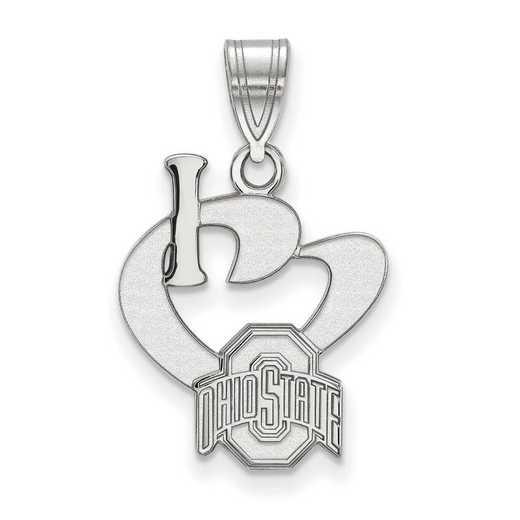 SS020OSU: SS LogoArt Ohio State Univ Large I Love Logo Pendant