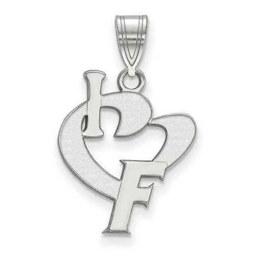 SS068UFL: SS LogoArt Univ of Florida Large I Love Logo Pendant