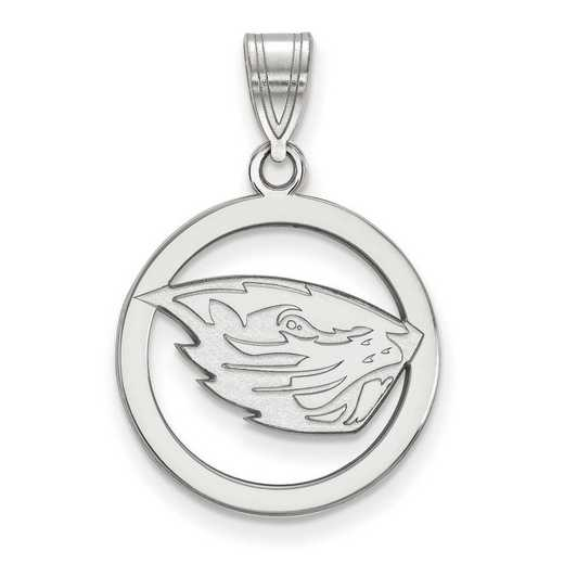 SS020ORS: SS Oregon State Univ Sm Pendant in Circle
