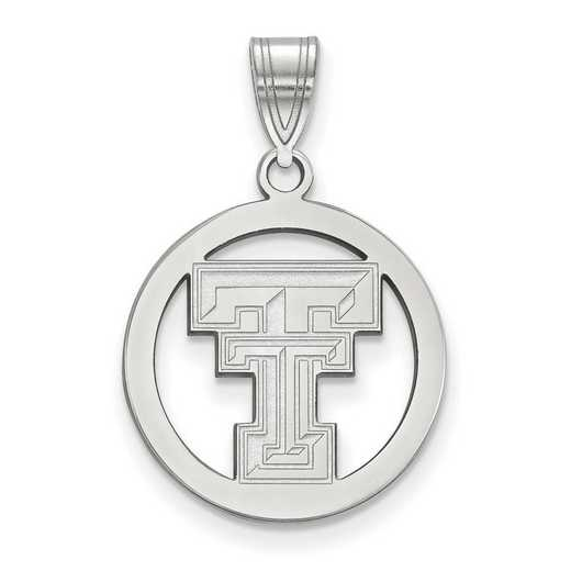 SS033TXT: SS LogoArt Texas Tech Univ Med Pendant in Circle