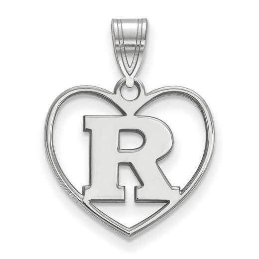 SS011RUT: SS LogoArt Rutgers Pendant in Heart