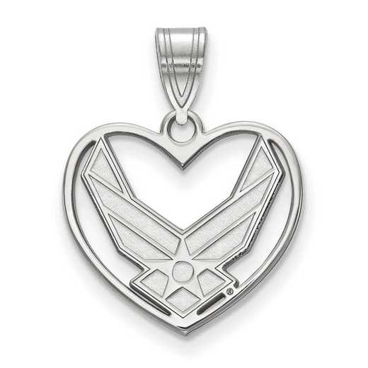 SS016USAF: SS LogoArt U.S. Air Force Academy Pendant in Heart