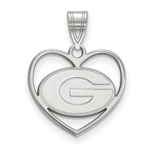 SS017UGA: SS LogoArt Univ of Georgia Pendant in Heart